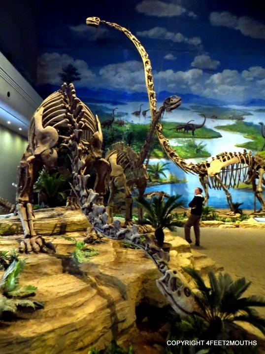 Carmen and a long-neck brontosaurus