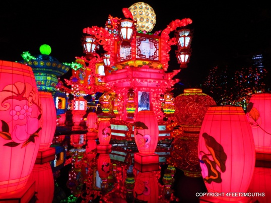 Red floating lanterns in Zigong
