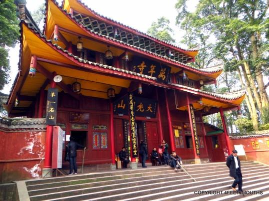 Wannian Temple entrance