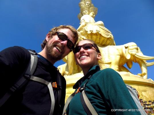 Us with stupa