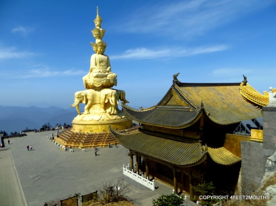 Golden Summit Temple with stupa