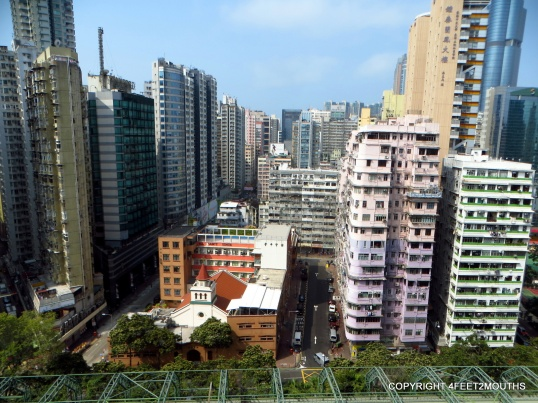 View of Mong Kok from our Kowloon apartment.