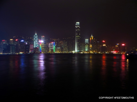 Hong Kong island on a misty night