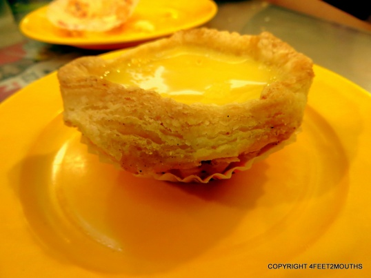 Flakey crust egg tart from Honolulu Bakery