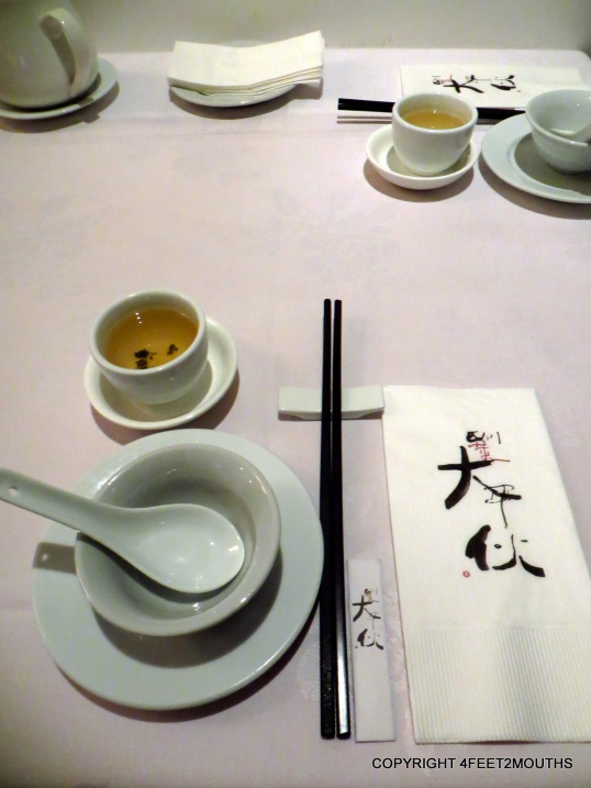 Da Ping Huo place setting