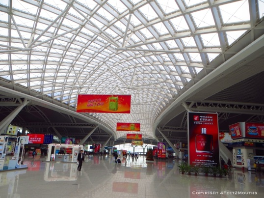 The ultra-modern and brand new Guangzhou high-speed rail station