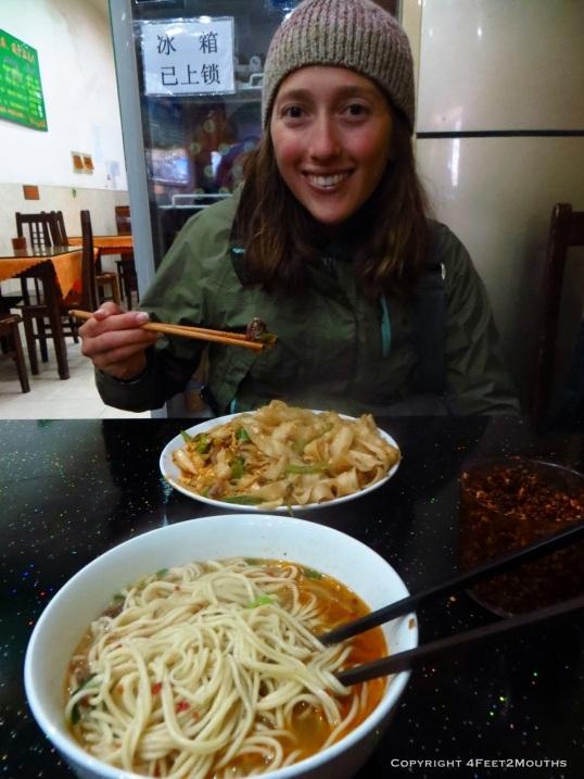 Fresh hand-cut Uyghur noodles