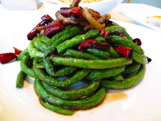 Pan-fried Sichuan long beans