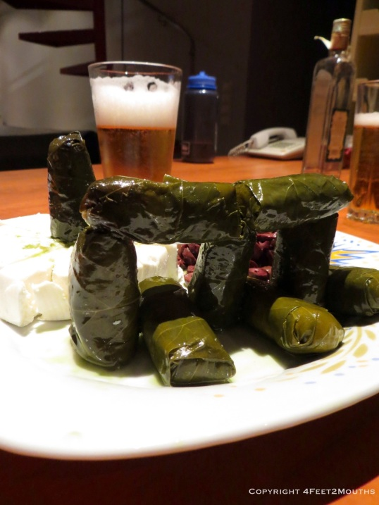 "This tower of dolma was one of the few things we got to ""cook"" during our travels"