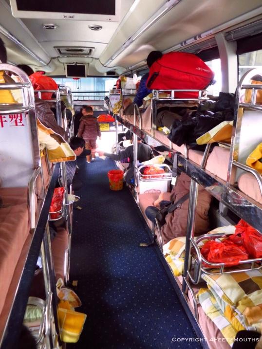 Sleeper bus to Yuanyang