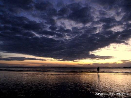 Carmen sandbar silhouette in Ilha do Mel