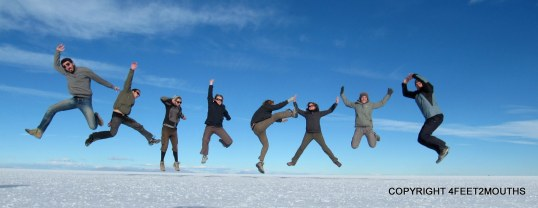 Friends are essential travel partners gather as many as you can.  Here we are on the Salar de Uyuni.