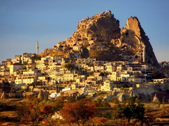 Northside of Uçhisar castle in Cappadocia