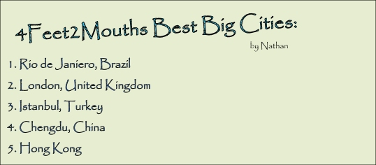 4FEET2MOUTHS Best Big Cities