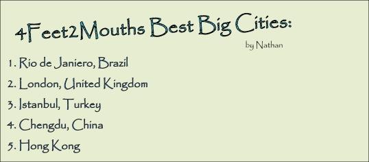 4FEET2MOUTHS Best Big Cities