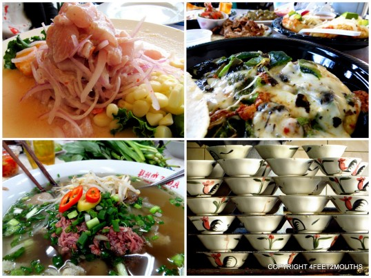 Best Foods: ceviche, rajas y queso, boat noodles & pho