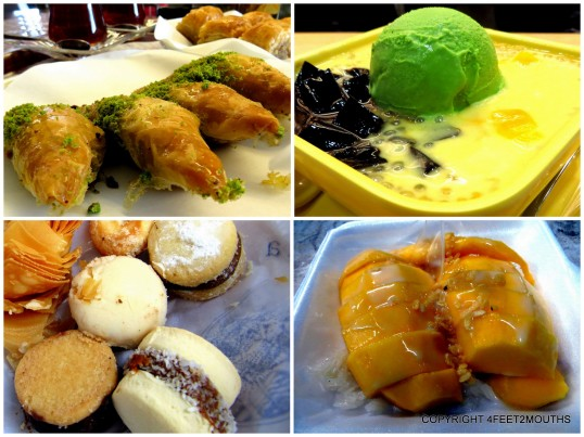 Best Sweets: baklava, sweet soup. Mango sticky rice & alfajores