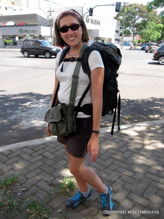 My durable Gregory backpack and REI shoulder bag that's lasted 7 years and counting