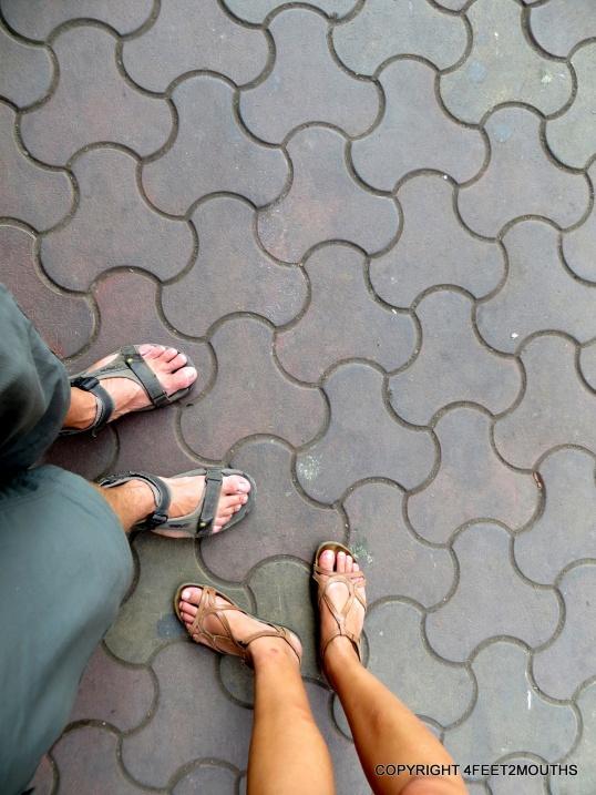 4 happy feet in comfortable sandals