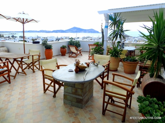 Our excellent hotel stay in Naxos, Greece, where we paid half the initial offer.