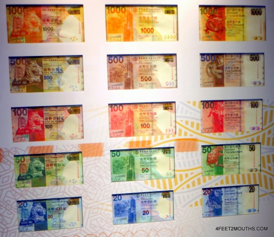Rainbow currencies of Hong Kong