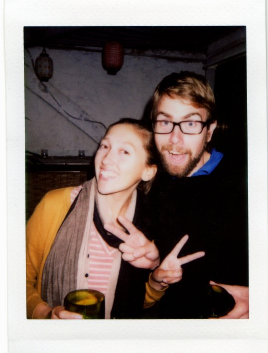 Polaroid taken of us at a party in HK