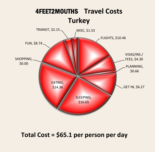 Turkey Expenses 2012