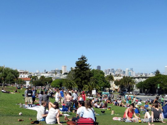The glorious Dolores Park on a sunny Sunday afternoon in San Francisco