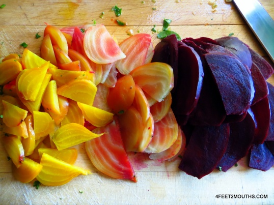 Fresh beets from the farmer's market.