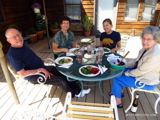 Hanging out with the family on the porch