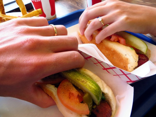 Hot Doug's hot dogs as celebration