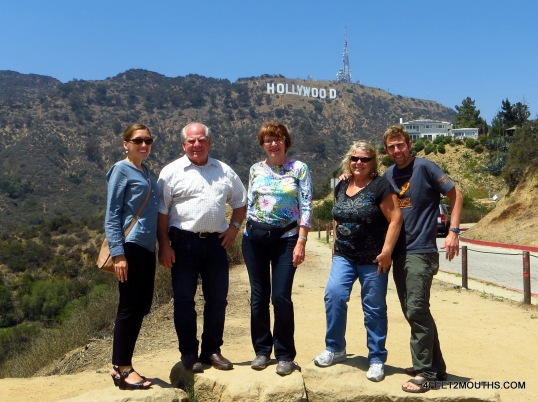 The Hollywood Sign family shot