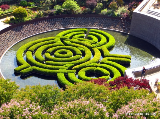 Garden at the Getty Museum