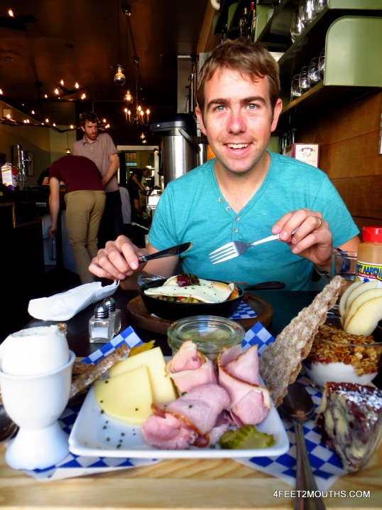 Scandinavian breakfast at Broder (not sure what's going on in the back)