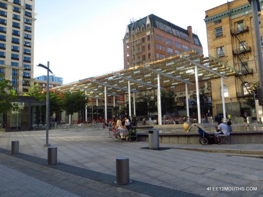 Public space in downtown Portland