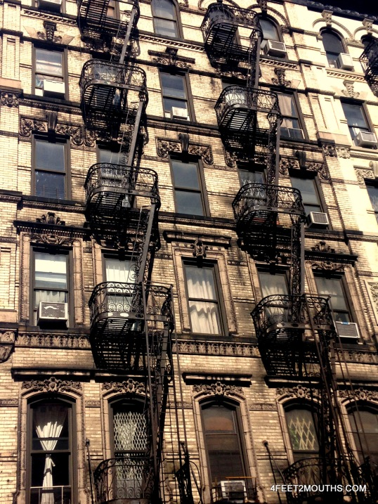 Intricate balcony in the Lower East Side