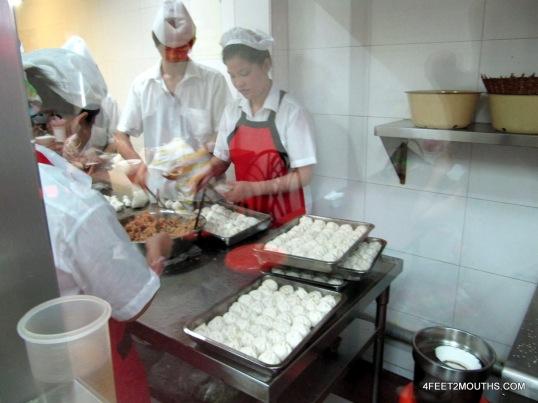 Workers at Yang's