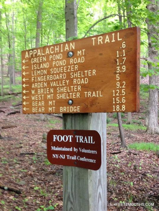 Appalachian Trail sign post