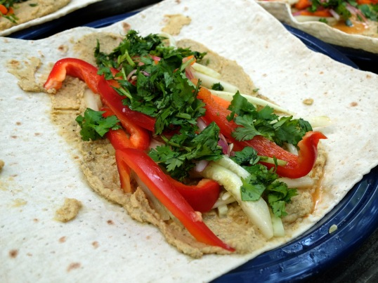 Improvised hummus wrap (photo source: Taylor)