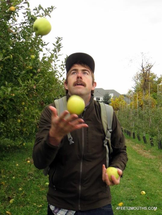 Nathan practicing his expert juggling skill