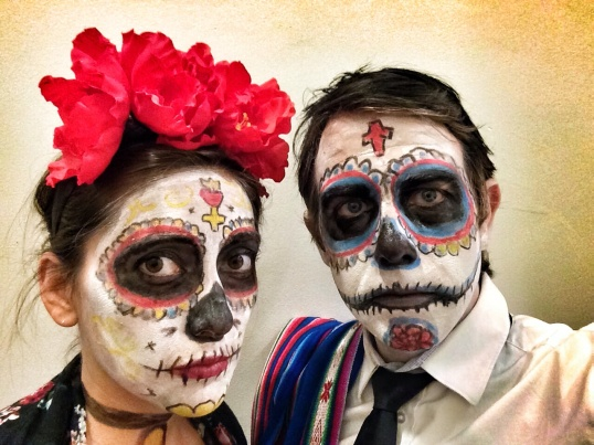 Nathan and I as Los Muertos
