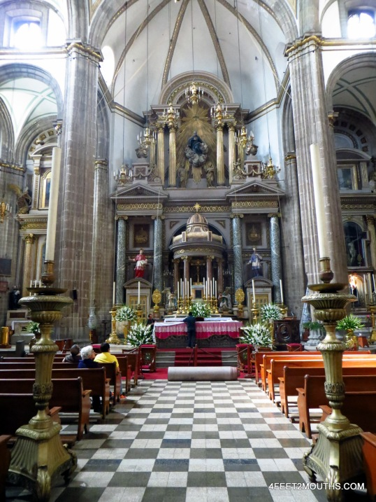 Beautiful church interior in DF