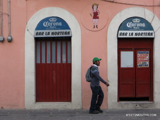 Bar in Puebla (I love the dancing woman painted above)