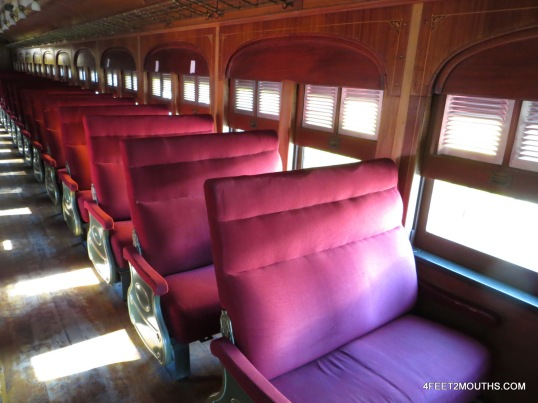 Inside a vintage Mexican train