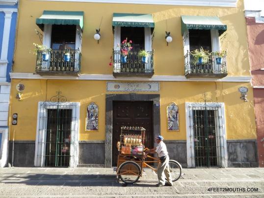 Street vendor in Puebla
